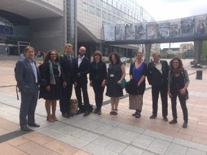 WDC visits European Parliament to stop dolphins and porpoises dying in fishing gear!