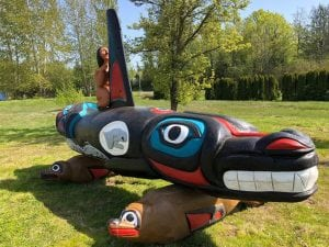 Tokitae Totem Pole Journey reaches Miami Seaquarium