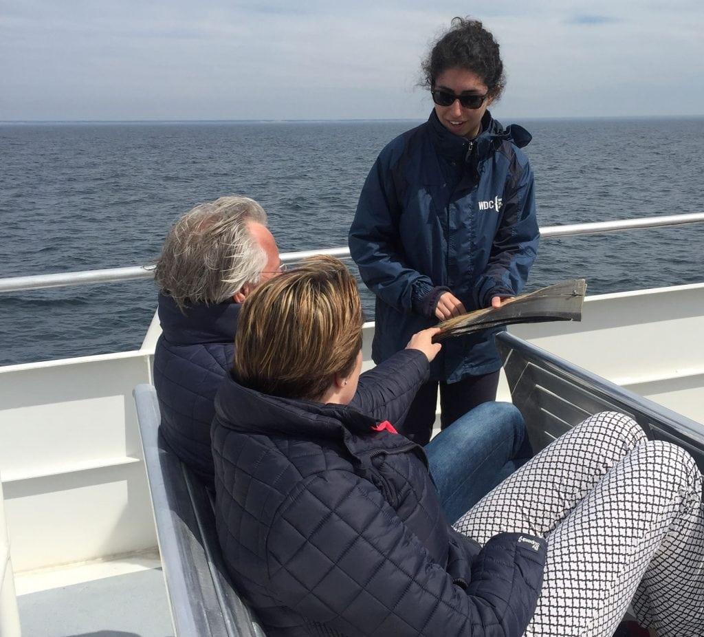 WDC intern on boat