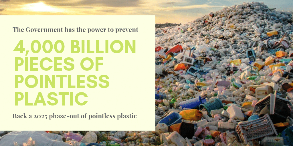 UK Government urged to phase-out single-use plastics by 2025 not 2042