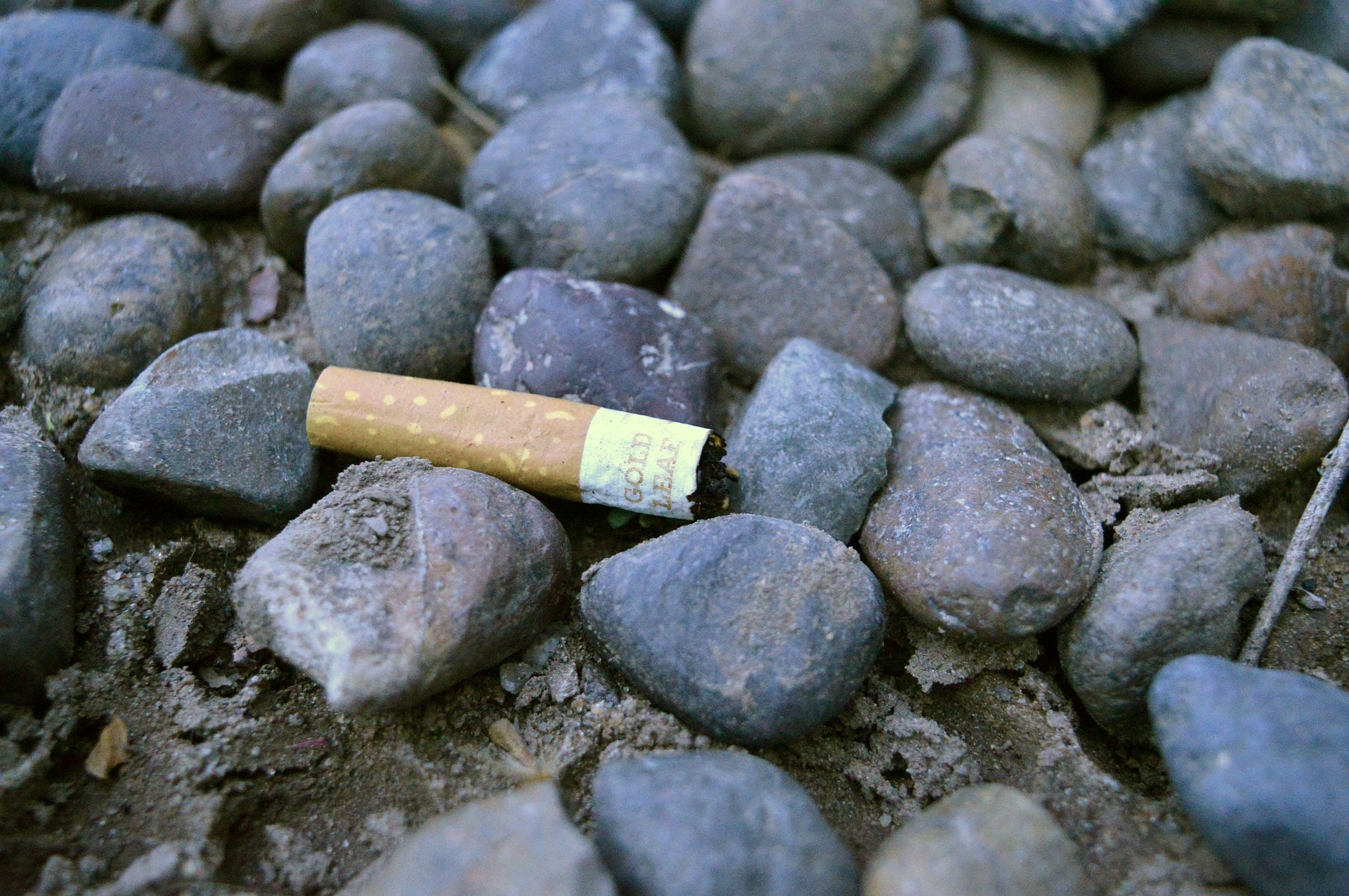 cigarette butt on beach no credit needed
