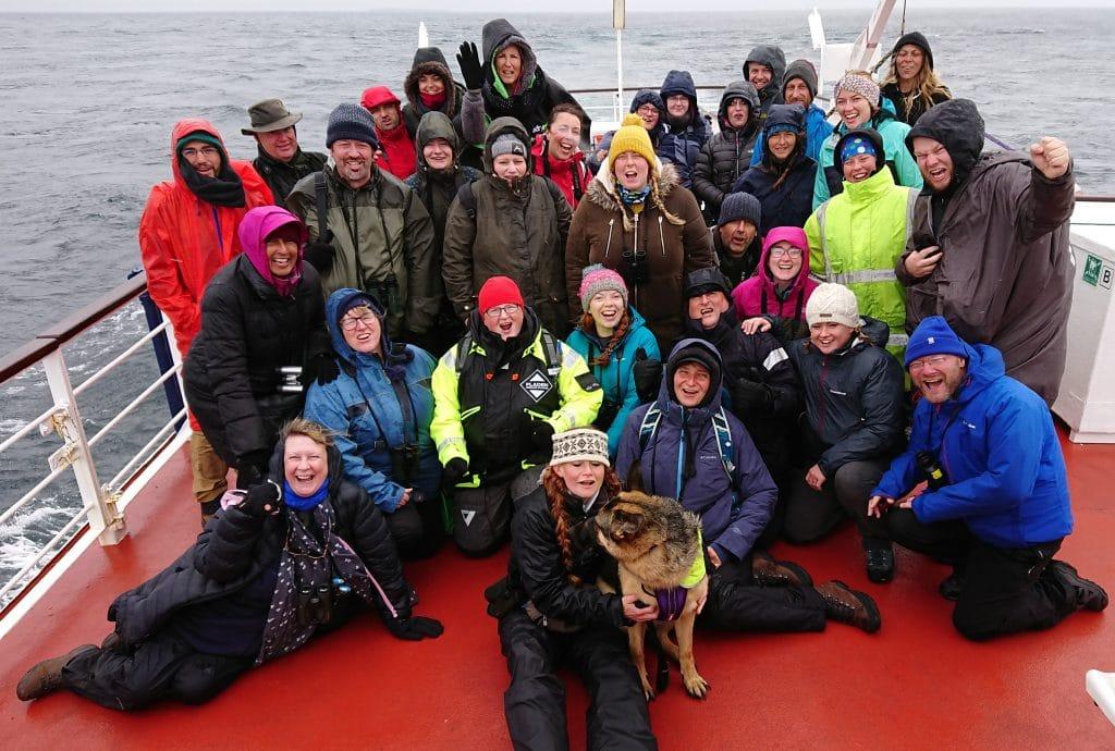 orca watchers on board the John O'Groats ferry