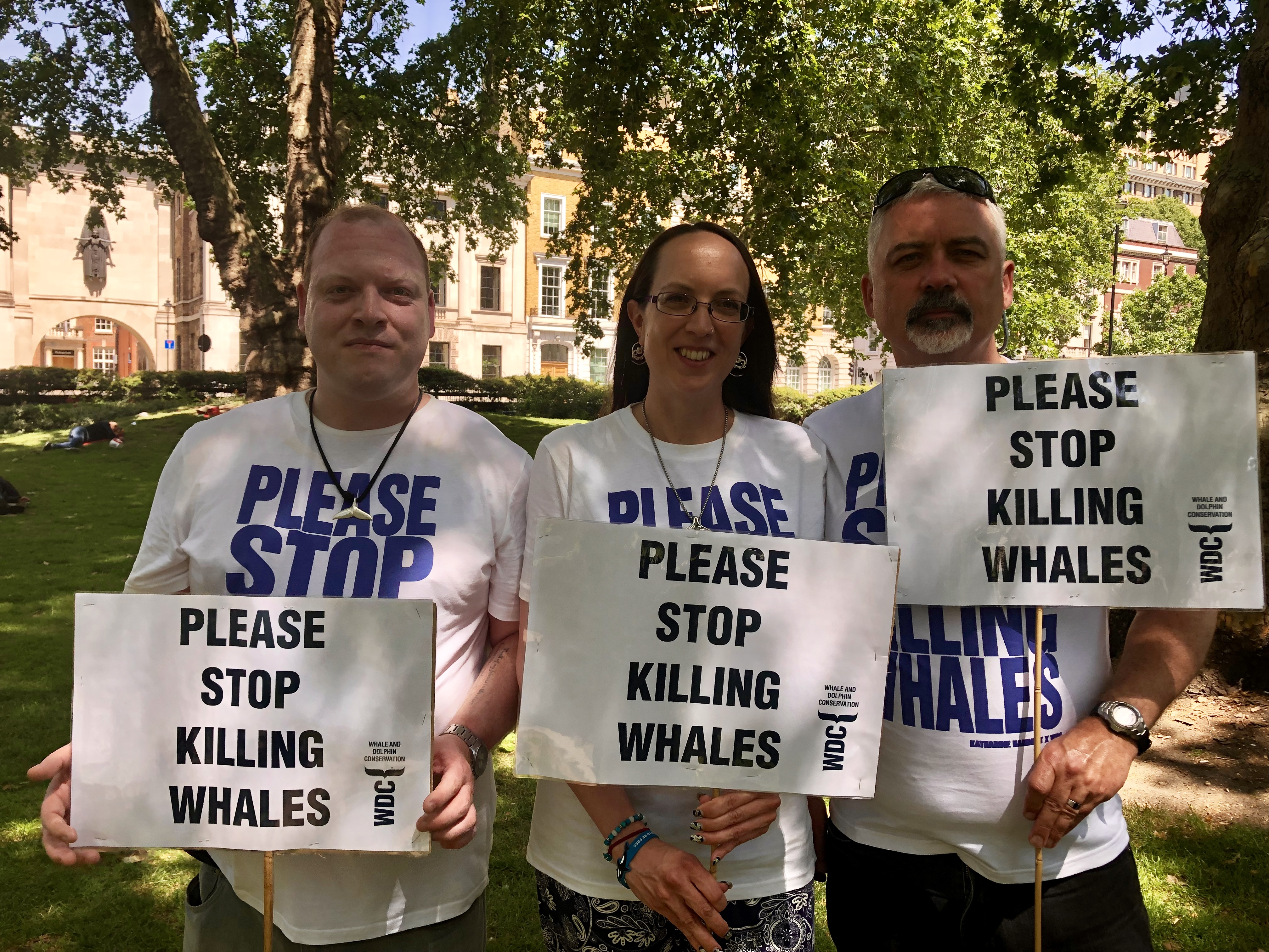 WDC at the stop whaling march