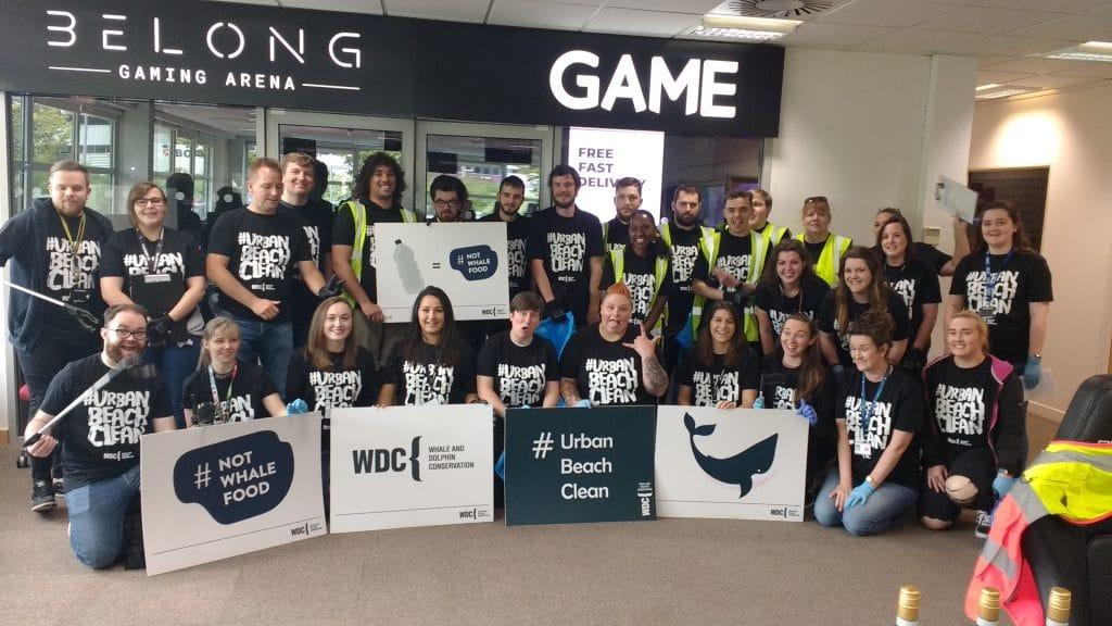 GAME staff hit an Urban Beach Clean high score