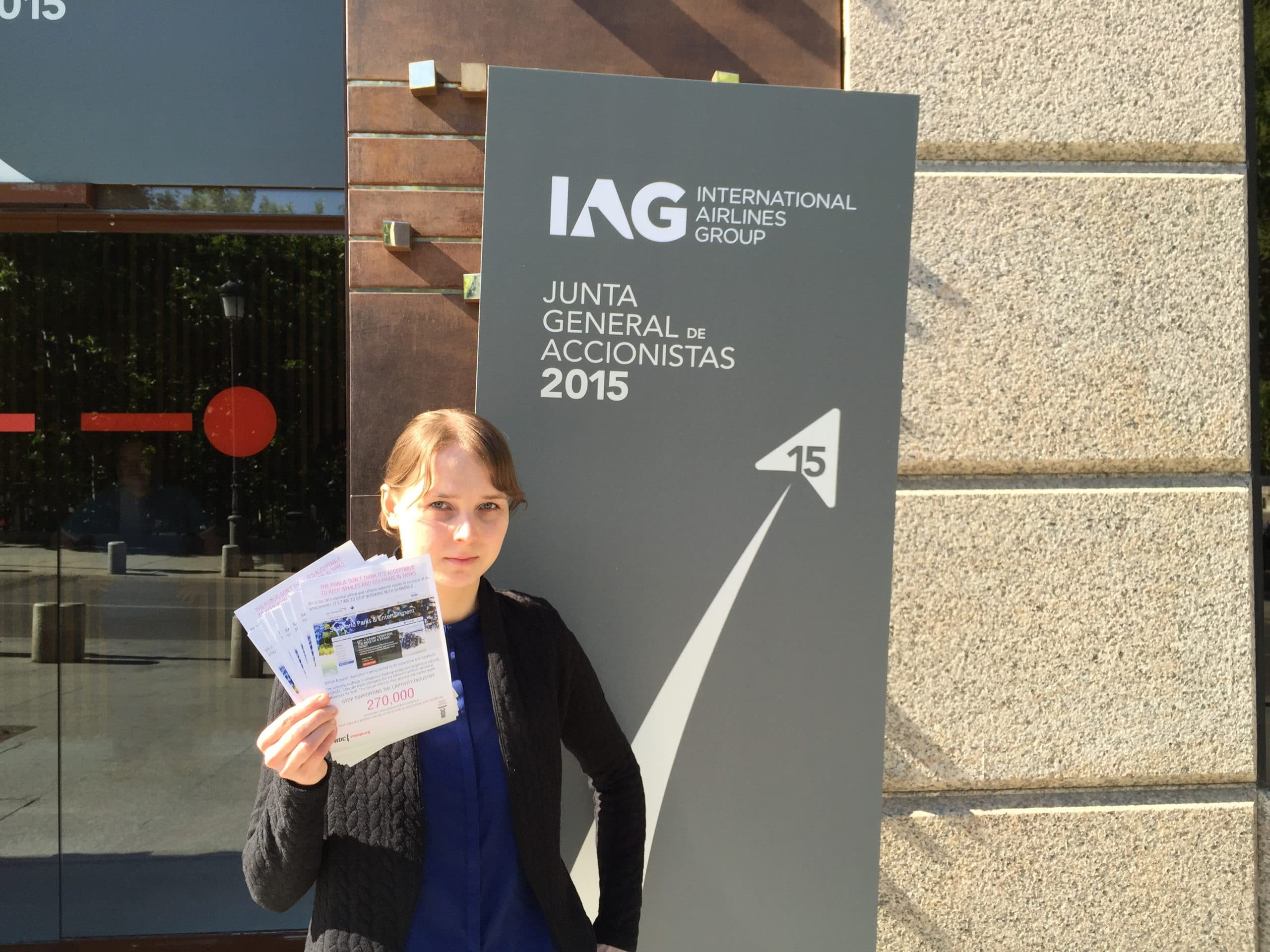 Here I am about to go in to the IAG shareholders meeting.