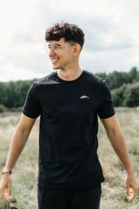 black dolphin tshirt