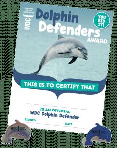 Dolphin Defenders certificate