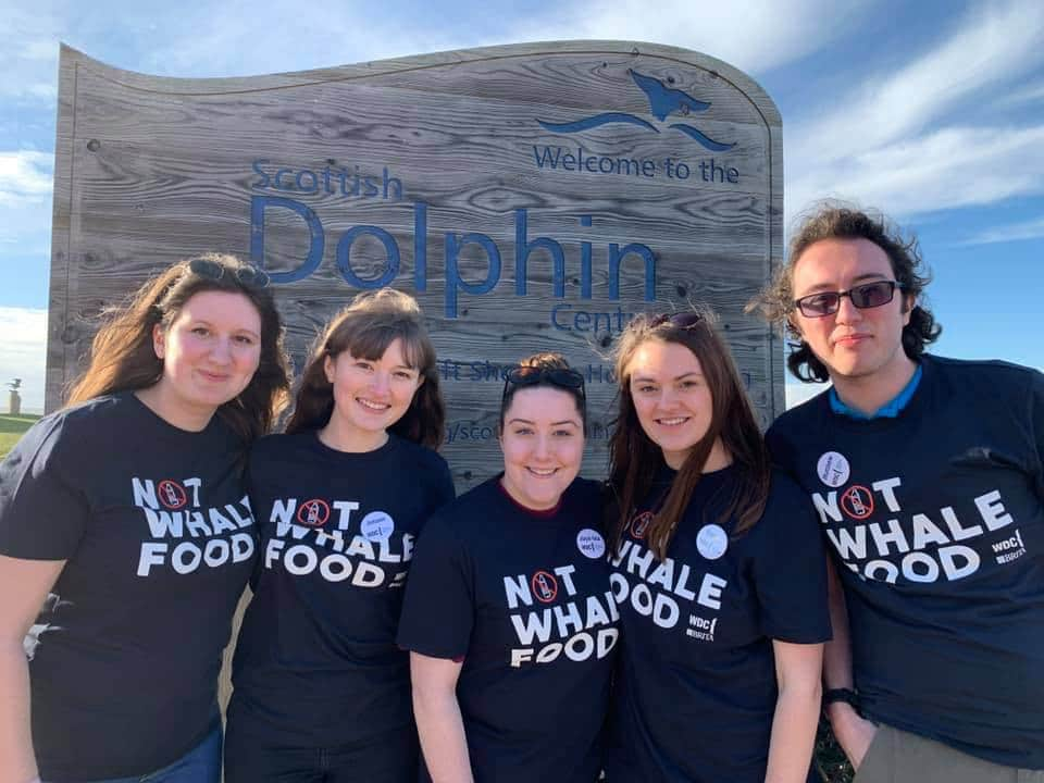 Scottish Dolphin Centre volunteers