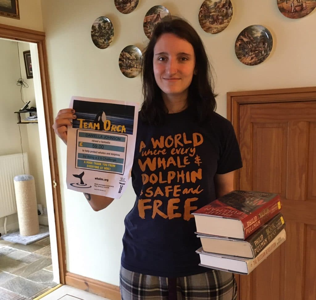 Daniella fundraised with her 26 hour readathon