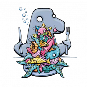What do dolphins eat illustration